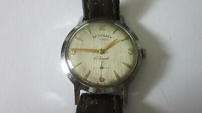 VINTAGE ROTARY 15 JEWEL GENTS WATCH CALIBRE F330