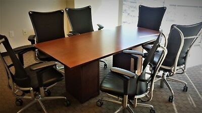 Excellent Condition Complete Conference Room Tables Credenza Seating