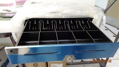 Apg S4000 Heavy Duty Cash Drawer Multipro 24v Black Stainless Steel Front