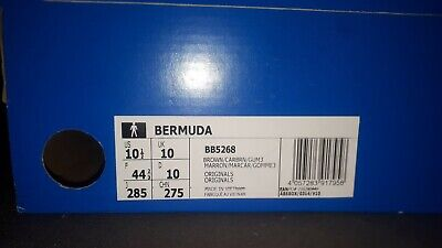 Adidas Originals BERMUDA BROWN TRAINERS UK10 - BB5268 EXCELLENT CONDITION