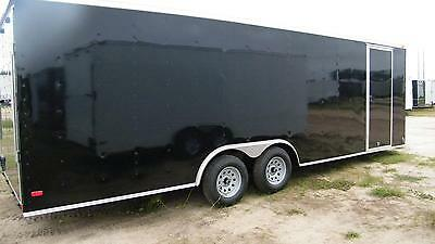 8.5x28 Enclosed Trailer Cargo Car Hauler V-nose Utility Motorcycle 26 28 2018