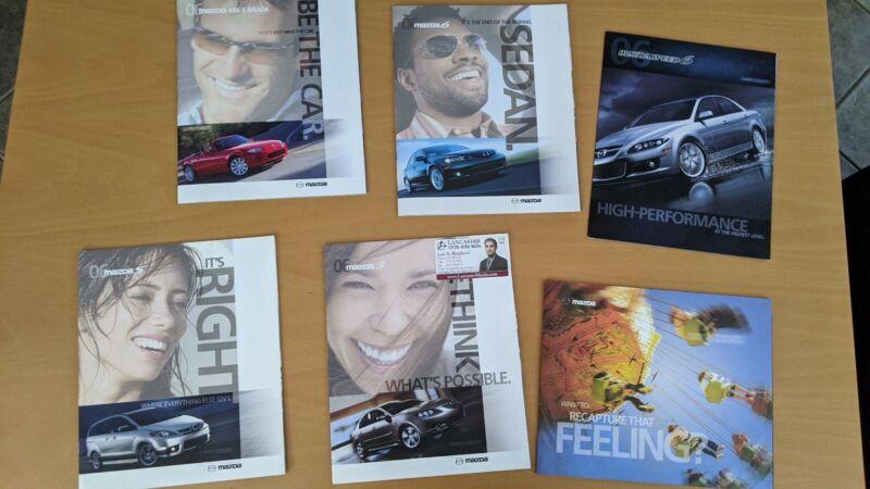 Five 2006 Mazda Sales Brochures