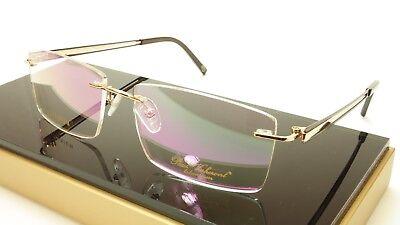 Authentic Paul Vosheront VT145 C2 Titanium Gold Brown Eyeglasses Frame Italy