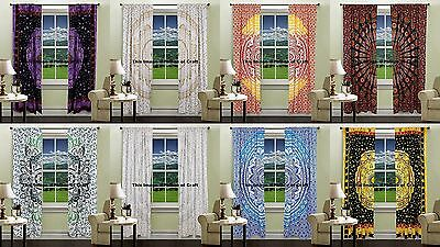 Indian Royal Ethnic Tab Top Curtain Collection Room Window Balcony Curtains Boho