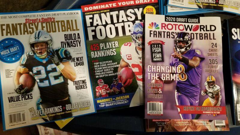 3 new magazines Fantasy football 2020 Roto World Centennial sports Street Smith