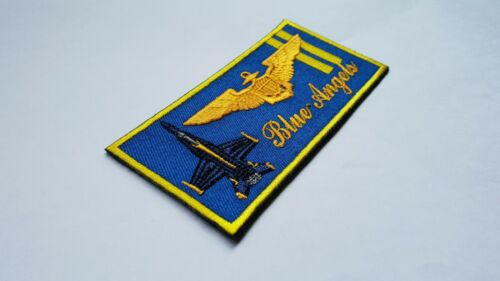 US Navy Demonstration Squadron Blue Angels style pilot wing flight suit nametag