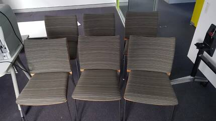 6 x DESIGNER RECEPTION CHAIR - office work seat study admin