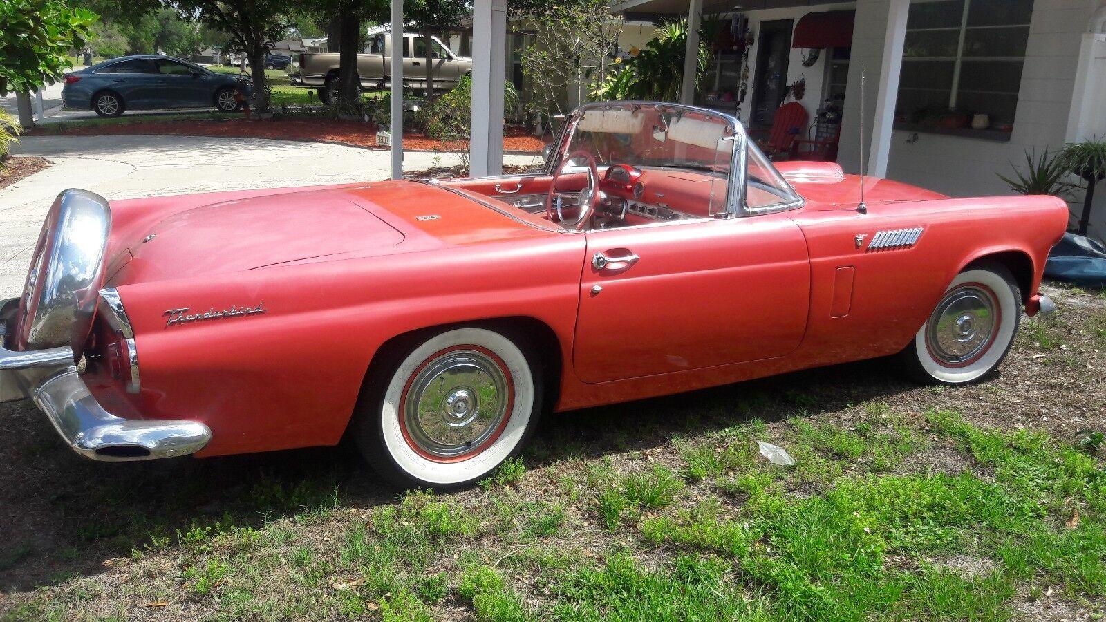 1956 Ford Classic Convertible Thunderbird Tbird All
