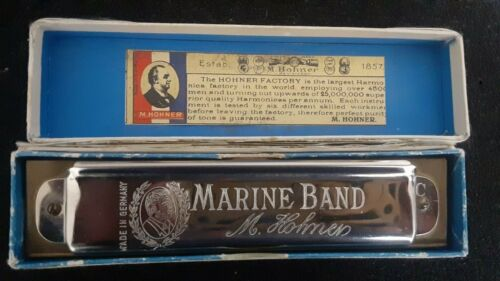 Vintage Harmonica M. Hohner Marine Band Pre War Excellence 12 Hole (364) Key C