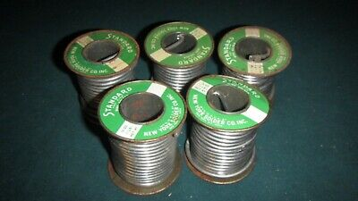 One Vintage Full 16oz Roll Standard New York Solder Co Wire Solder New Old Stock