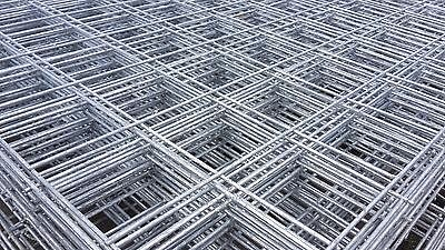Galvanised Welded Wire Mesh Panel 2440(8') x 1220(4') x 75mm x 75mm x 5.0mm