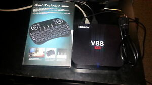 Android box fully loaded with Brand new keyboard remote.