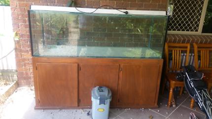 6 foot fish tank stand & light. Aquariums r us. Display quality.