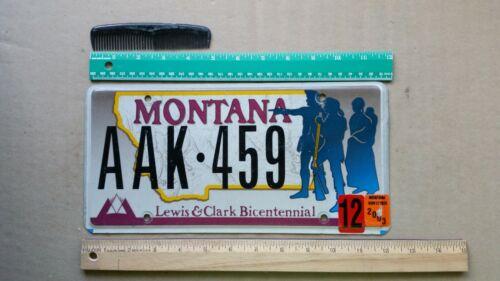 License Plate, Montana, Specialty: Lewis & Clark Bicentennial, AAK 459