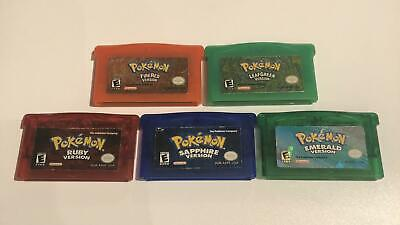 Pokemon Ruby Sapphire Emerald Fire Red Leaf Green Bundle | Authentic *READ*