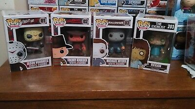 Funko Horror! Movies: Jason #01, Freddy #02, Michael Myers #03, and Regan - Michael And Jason