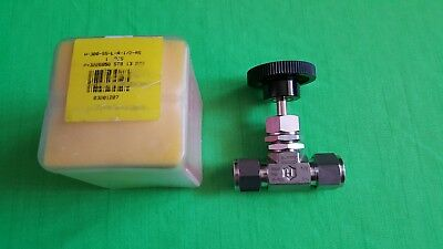 New Ham-let H-300-ss-l-r-12-rs Stainless Steel Metering Valve