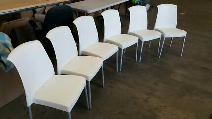 WHITE CHAIRS home study reception business conference kitchen Murarrie Brisbane South East Preview