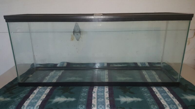 Used 55 gallon fish tank with accessories