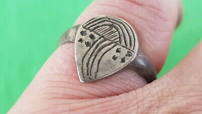 Stunning Viking warrior's solid silver finger ring. Please read description L49v