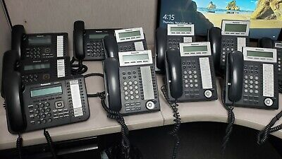 Panasonic Kx-tda50 Hybrid Ip-pbx Phone System Kx-tva50 Vm System With Phones