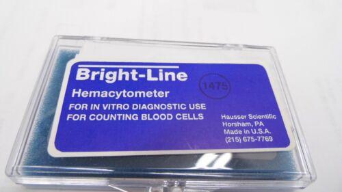 HAUSSER SCIENTIFIC RIECHERT BRIGHT-LINE IMPROVED NEUBAUER 0.1mm DP HEMACYTOMETER