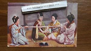Postkarte 1904 Japan  Japanisches Spiel / Gelaufen in Großbritannien