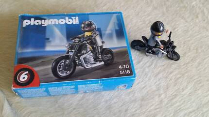 PLAYMOBIL 5118 motorcycle motor cyclist with box