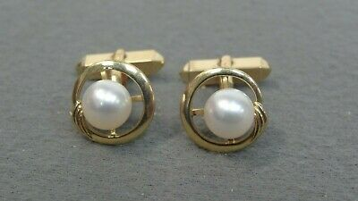 Mikimoto 14k 8mm Pearl Cufflinks