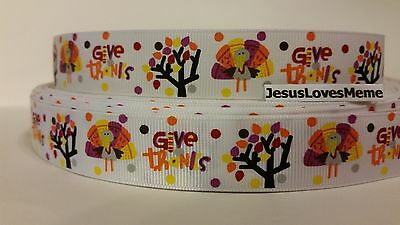 Grosgrain Ribbon, Happy Give Thanks, Thanksgiving, Turkeys, Fall Trees, - Thankful Turkey Craft