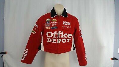 Carl Edwards Autographed Jacket Coat Youth Medium Office Depot JH Design Red   Red Coat Depot