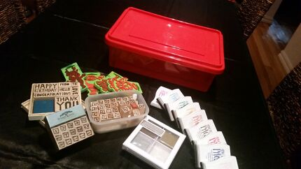 Craft or Scrapbooking Rubber Stamps And Ink Pads Ivanhoe Banyule Area Preview