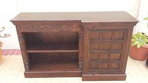 CARVED WOODEN BUFFET, SOLID WOOD! Greenslopes Brisbane South West Preview