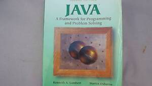 JAVA A Framework for Programming and Problem Solving Shailer Park Logan Area Preview