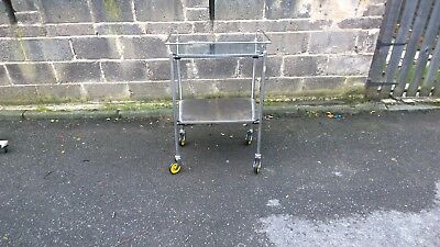 Vintage Dentists Hospital Trolley Industrial Look drinks display etc
