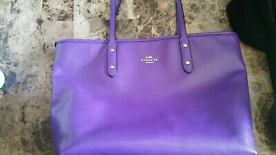 Coach Purple Tote-Handbag-EUC