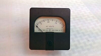 Simpson Ge Weston Ac Volts Db Panel Meters Usa Vintage Select Range