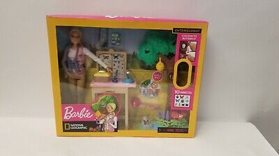 Barbie National Geographic Entomologist Doll and Themed Playset Toy Box Wear