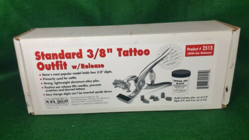 "TATTOO TOOL FOR CATTLE- HAND TOOL WITH MULTIPLE DESIGNS-3/8"" DIGITS"