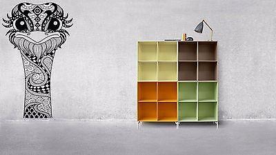 Wall Room Art Decor Vinyl Sticker Mural Decal Zentangle Ostrich Camel Bird F1085