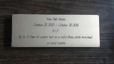 Pet Headstone/Grave marker/ memorium