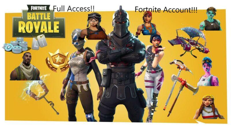 Random Fortnite Account 10-300 Skins!! Full access OG SKINS✔✔