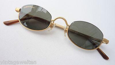 Alpina Sonnenbrille kleine Gläser dunkle Tönung gold Designerfassung Grösse M
