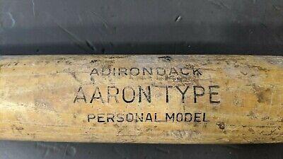 "Vintage HANK AARON TYPE 302S Wood Baseball Bat Adirondack 32"" PERSONAL MODEL"