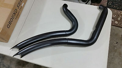 BLACK BIG RADIUS  EXHAUST ALL BAGGERS 1998-2006 and 2009-2016 FLHT ALL BAGGERS