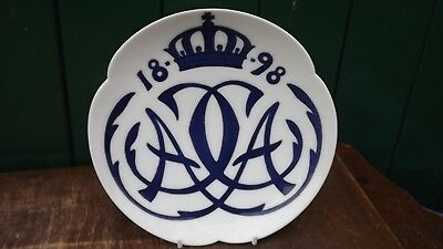 1898 Royal Copenhagen coupe plate for wedding of Prince Christian & Alexandrine