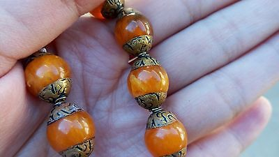 to do Wholesale 5 Big 12X10mm Tibetan Golden Plated Repousse Beeswax Amber Beads