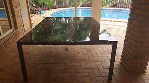 Glass top 10 Seater  outdoor  table Southside Gympie Area Preview