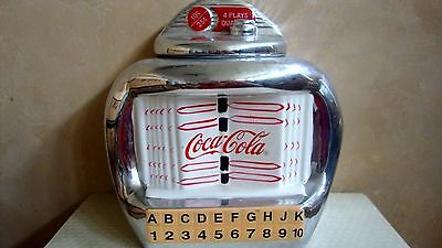 """COCA-COLA"" - COOKIE JAR  JUKE BOX  - 2000 GIBSON DESIGN COCA-COLA COMPANY"