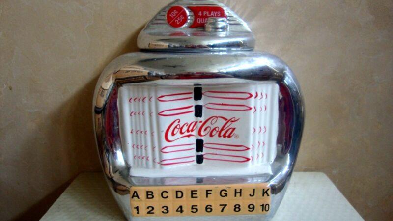 Coca - Cola Juke Box Cookie Jar 2000 Gibson Design Coca-Cola Company